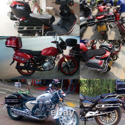 Universal Motorcycle Tail Bags Luggage Tank Tool Bag Hard Case Saddle Bags For K