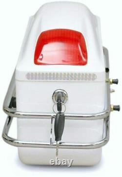 Universal Motorcycle Tail Bags Luggage Tank Tool Bag Hard Case Saddle Bags Pair