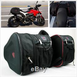 Universal Pair 36-58L Motorcycle Saddle Bags Luggage Waterproof Helmet Tank Bags