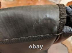 Vintage Harley Davidson Recycled Rubber Messenger Bag with Tank Emblem