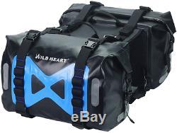WILD HEART Waterproof bag Motorcycle saddlebag 50L Tank bag Motor Side bag Black