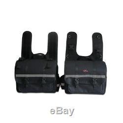 Water Resistance Pair of Universal Motorcycle Saddlebags Panniers Bags Luggage