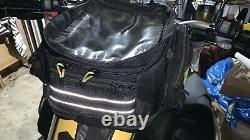 Wolfman Expandable Motorcycle Tank Bag with Side Pockets and Large Map Pocket