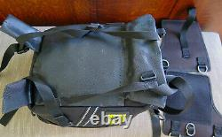 Wolfman Express Black Nylon Expandable Motorcycle Tank Bag Map Case Made in USA