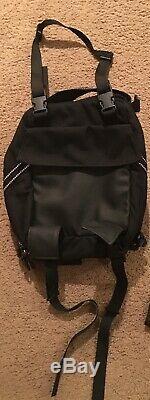 Wolfman Luggage S0305 Blackhawk Motorcycle Tank Bag V-1.7 Black Expandable Nice