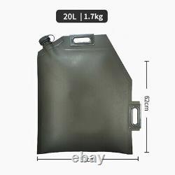 10l 20l 30l Pliant Sac D'huile Verte Réservoir De Rechange Jerry Can Moto De Voiture