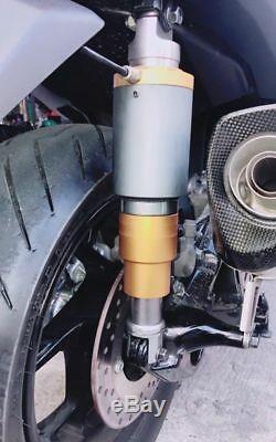 2 Sacs Arrière Universal Air Shock 310345 MM Suspension Tour Moto Withair Réservoir