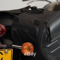2 X Sac De Selle De Moto Bagages Sac De Réservoir Imperméable Sacs 36-58l Avec Housse