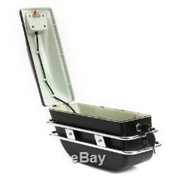 2x Moto Side Boxs Pannier Sac Bagages Réservoir Hard Case Selle Rack Cruiser