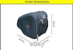 2x Oxford Tissu Moto Selle De Selle Sacs Bagages Casque Réservoir Sacs Avec Couverture De Pluie