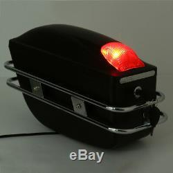 2x Pour Moto Boîtes Latérales Bagages Réservoir Hard Case Selle Sacs Cruiser