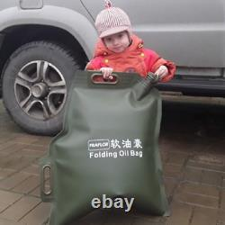 30l Portable Car Motorcycle Soft Oil Bag Cans Spare Oil Fuel Tank Essence Can