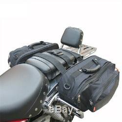 36-58l Casque Étanche Sacoches De Moto Selle Bagages Polyester 600d