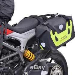50l Moto Sac De Queue Sac De Réservoir Imperméable À L'eau Moto Saddlebag Sac De Voyage