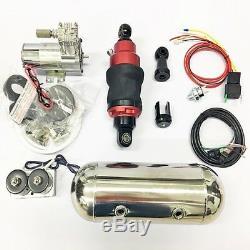 Air Ride Choc 235-250 MM Kit De Suspension De Sac Pour Moto Withair Réservoir 2.1 Litres