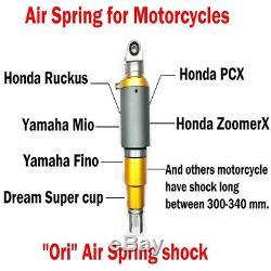 Arrière Universal Air Ride Kit Sac Choc 300,345mm Suspension Moto Withair Réservoir