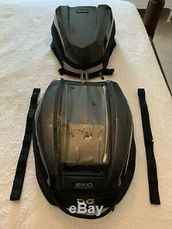 Axio Magnétique Moto Réservoir Sac & Queue Assorti Sac À Dos Paquet Fibre De Carbone