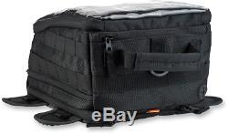 Biltwell Noir Exfil-11 Magnétique Pour Moto Zipper Sac De Réservoir De Carburant