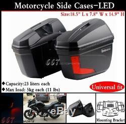 Boxs Moto Universel Side Bagages Réservoir Queue Sac À Outils Sacs Hard Case Selle
