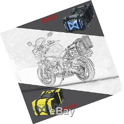 Coeur Sauvage Sac Étanche Saddlebag Moto 50l Sacoche De Réservoir Sac Côté Moteur