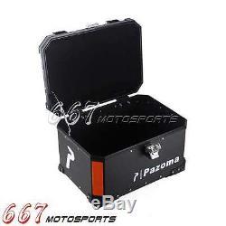Coffre Moto Grand Stockage Moto Coffre Arrière Top Case Noir