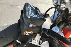 Géant Boucle Buckin Rouleau Moto Réservoir Sac, Dirt Bike Bagages, Noir Et Gris