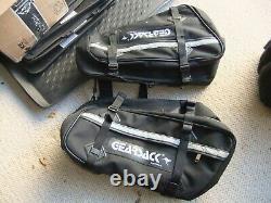 Gearsack Soft Motorcycle Luggage Black Panniers Seat Bag & Magnetic Tank Bag