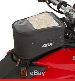 Givi 6 Litres Imperméable Moto Double Sport Sac De Réservoir De La Sangle De Montage Grt706