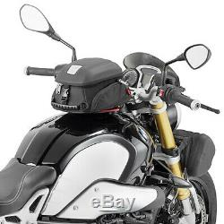 Givi Mt505 5 Litres Moto Moto Réservoir Sac & Bf02 Réservoir Anneau Noir-bride