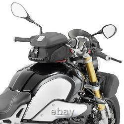 Givi Mt505 5 Litres Moto Moto Sac De Réservoir Et Bf39 Bague De Réservoir - Noir