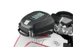 Givi St602b 5 Litres Motorcycle Motorcycle Tank Bag & Bf30 Tank Ring Flange Black