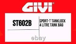 Givi St602b Sport-t Tanklock Sac De Réservoir De Moto 4 Litres