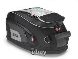 Givi Xs307 15 Litre Motorbike Motorbike Tank Bag & Bf20 Ring Flange Noir