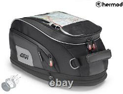 Givi Xs307 15 Litres Motorcycle Motorcycle Tank Bag & Bf19 Ring Flange Noir