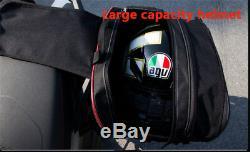 Grande Capacité Sacs De Moto Selle Bagages Pannier Casque Sac De Réservoir + Housse De Pluie
