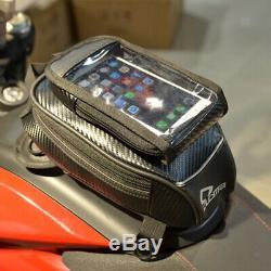 Huile Moto Noire Sac Réservoir De Carburant Sac Étanche Riding Magnétique