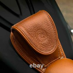 Indian Motorcycle Genuine Leather Tank Pouch Desert Tan 2880142-05