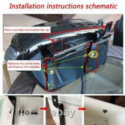 Moto Side Box Bagage Tank Hard Case Sac À Selle Universal Matte Black
