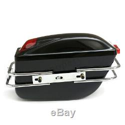 Moto Side Pannier Box Bagages Réservoir Hard Tail Case Sacs De Selle Rack Cruiser