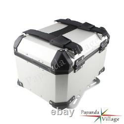 Motorcycle Universal Aluminium Alloy Rear Luggage Box Tail Trunk Top Case Pour Bmw