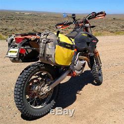 Nelson Rigg Nouveau Se-3050 Jaune Noir Deluxe Aventure À Sec Moto Saddlebags
