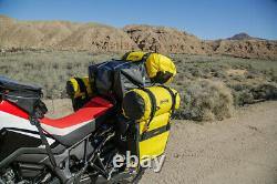 Nelson Rigg Nouveau Se-3050 Yellow Delux Adventure Dry Motorcycle Touring Saddlebags