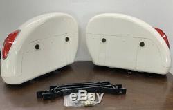 Nouvelle Moto Sacs Side Saddle Boxs Bagages Réservoir Hard Case Pour Harley