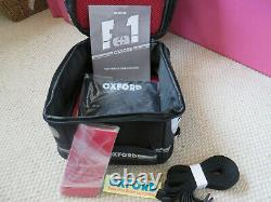 Oxford Bagages M4r Magnétique 4ltr Litres Moto Moto Sac De Réservoir Noir Ol255