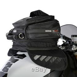 Oxford M15 15 Litres Moto Expandable Magnétique Sac De Réservoir Bagages Noir Ol221