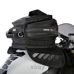 Oxford M15r Moto Moto Magnétique Sac De Réservoir 15l Noir