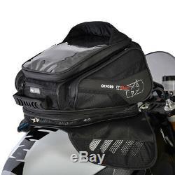 Oxford M30r Noir Moto Velcro Moto De Fixation Sac Léger Réservoir Magnétique