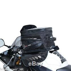 Oxford M40r Magnétique Noir Sacoche De Réservoir De Moto À Vie Sac À Dos Bagages Ol205