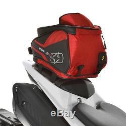 Oxford M4r Motorcycle Queue De Réservoir Magnétique Sac À Vie Bagages Rouge 4l Ol256 T