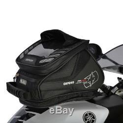 Oxford M4r Noir Moto Velcro Moto Fixation Légère Et Tailer Sac De Réservoir